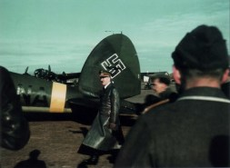 "A Heinkel He 111 P-2 ""CA+NA"" (Werknummer 2471) part of ""Fliegerstaffel des Führers"" (Führer's Air Squadron) in the spring of 1942 during a visit by Adolf Hitler to an airfield in the Southern sector of the Eastern Front."