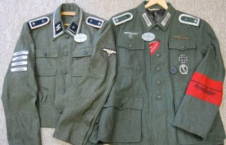 A late war SS-Feldgendarm & a Feldjäger NCO. Order Catalog for http://soldat.com/ or Soldat FHQ on Facebook.