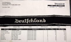 Someone asked me once how much for one of the uniforms. I told them that is was an expensive undertaking, but depended upon from whom, the quality, how much added, etc. Here is an invoice from one company. I of course do not make uniforms, but know a few that do. Order Catalog for http://soldat.com/ or Soldat FHQ on Facebook.