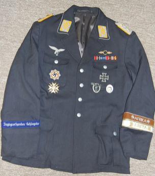 A Luftwaffe officer's uniform. Order Catalog for http://soldat.com/ or Soldat FHQ on Facebook.