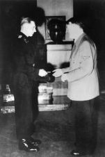 Michael Wittmann being awarded by Hitler.