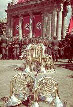 Rally in celebration of Adolf Hitler's 50th birthday, Berlin, April 20, 1939.