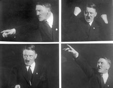 Interessante Rednerposen des Führers der nationalsozialistischen Arbeiterpartei, Adolf Hitler! Adolf Hitler machte durch seine Zeugenaussagen vor dem Reichsgericht in Leipzig viel von sich reden.