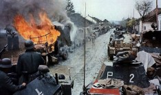 Column of German vehicles in NIS Yugoslavia 1941.