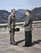 Fritz Darges and Adolf Hitler at Berghof.