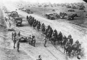 German cavalry and motorized units entering Poland from East Prussia during 1939.