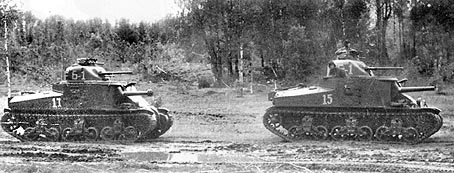 "M3 Lee lend-lease tanks at Kursk. Unpopular with its crews, the M3 was nicknamed ""A coffin for seven brothers""."