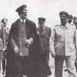 Hitler, president of the Croatian Independent State Ante Pavelic and Hermann Goering in Tyskland.