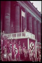 Adolf Hitler speaking at the Lustgarden in Berlin, May 1938.