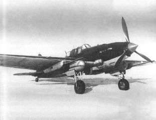 Soviet Ilyushin Il-2 ground-attack aircraft.