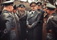 Jodl, Porsche, Guderian, Hitler, and Keitel inspection.