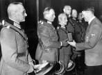 Hitler awarding the Knight's Cross to generals Franz Halder, Heinz Guderian, Hermann Hoth, Adolf Strauss, Erich Hoepner and Friedrich Olbricht , 27 October 1939.