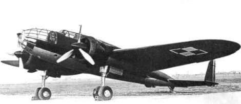 Polish PZL.37 Łoś medium bomber.