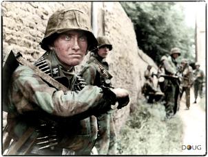 SS-Sturmmann Otto Funk of SS Aufklärungs Kompanie 15, III Zug, SS Panzergrenadier Regiment 25.