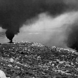 Aftermath of a German air attack on Suda Bay.