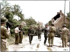 Members of 2. Panzer Division surrender.