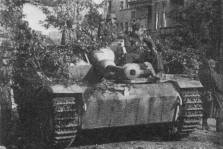 A StuG III Ausf G said to have been present at Arnhem on 19 September 1944, during Operation Market Garden. This StuG features the Soukopf (Sow's Head) version of the gun mantlet.