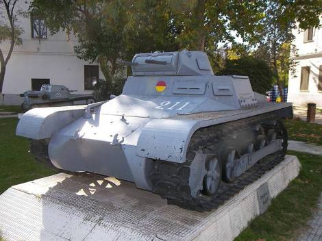 Panzer I Ausf A at El Goloso Museum of Armored Vehicles, in Spain.