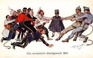 Europian WWI propaganda poster.