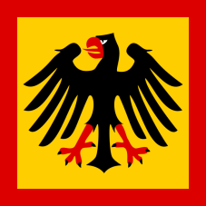 1921–1926 and since 1950 Standard of the President of Germany The standard depicts the elements of the coat of arms. A version of the standard that is identical in heraldic terms, but with a slightly different exact design, was used 1926–1933.