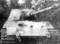Rare photo of a Tiger II knocked out, probably through the frontal armor of the turret. (Vehicle 301 from s.H.Pz.Abt. 503, lost on 26 August 1944).
