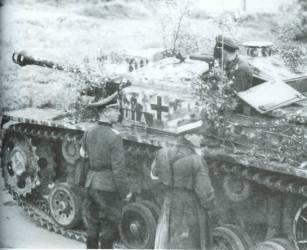 StuG III with camoflage.
