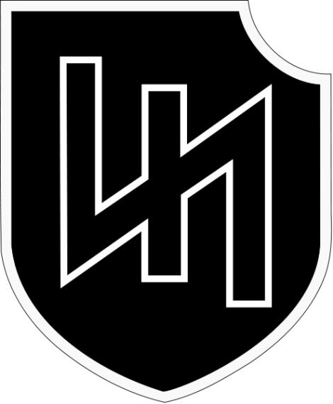 The Wolfsangel symbol of 2nd SS Panzer Division – Das Reich.