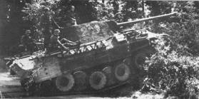 12th SS Panzer-Division Hitlerjugend Panther in Normandy.