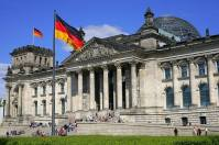 The Reichstag building in Berlin is the site of the German parliament (Bundestag).