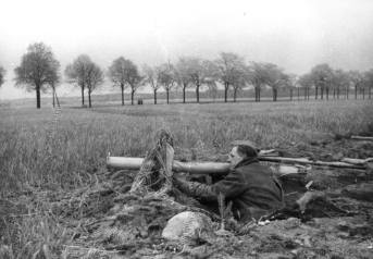 Volkssturmmann with Panzerschreck, Berlin, April 1945.