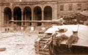 Probable destroyed King Tiger in urban fighting.