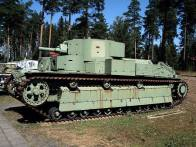 A Soviet made T-28 captured by the Finnish Defence Forces at the Parola Tank Museum - Finland.