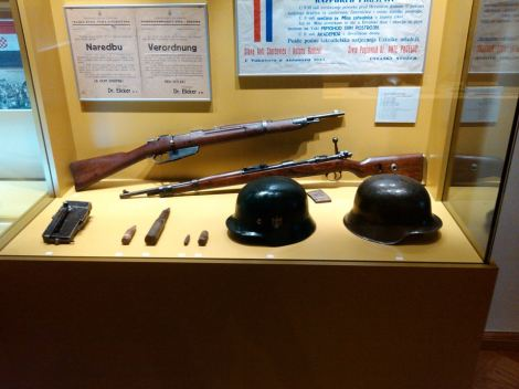 Ilok Museum, Croatia, NDH and Geman weapons.