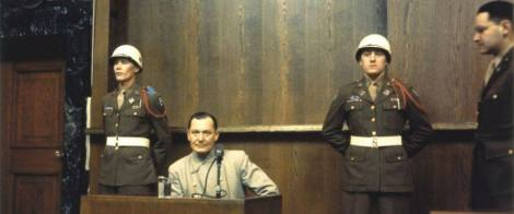 Hermann Goering at the Nuremburg Trials.