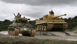 Tiger 1 and American Sherman comparison.