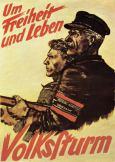 Volksturm propaganda poster, 1943.