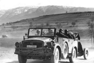 Leibstandarte advances in the Balkans