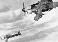 Formation of Stukas.