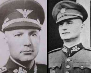 General Ján Golian and Minister of Defense Ferdinand Čatloš -Slovak Republic 1939-45.