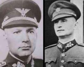 General Ján Golian and Minister of Defense Ferdinand Čatloš -Slovak Republic 1939-45.