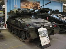 British Sabre light tank at the The Bovington Tank Museum - England.