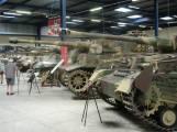 Panther, Tiger 2, Tiger 1, and Panzer IV at the Musée des Blindés - Tank Museum - France.