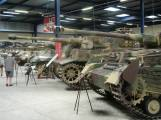 Panther, Tiger 2, Tiger 1, and Panzer IV at the Musée des Blindés - Tank Museum - France.