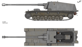 An artist drawing of the Sturer Emil.