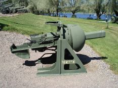Russian 76 mm bunker gun model 76K27.