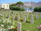 View from the rear of Leros CWGC cemetery.