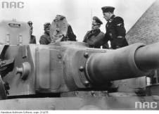 General Heinz Guderian with Heer and SS inspecting a Tiger 1.