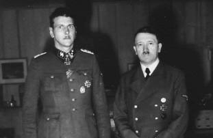 Otto Skorzeny and Hitler.