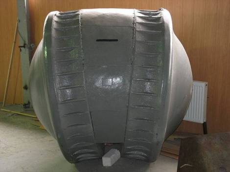 "The Kugelpanzer (literally translates as ""spherical tank"") was a prototype reconnaissance tank built by Nazi Germany during World War II. It was one of the most unusual armoured fighting vehicles ever built."
