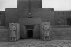 Entrance to the tomb at Tannenberg Memorial.
